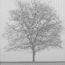 Tree rendered using line width