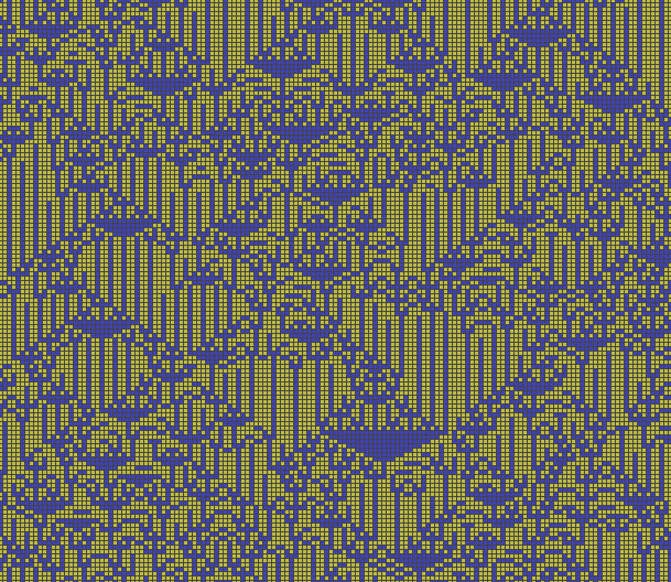 A randomly selected cellular automaton
